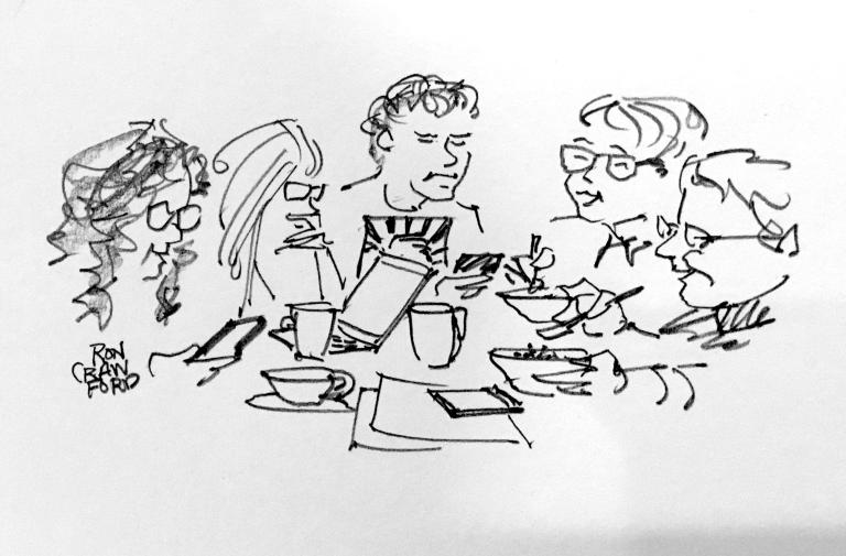 Breakfast, Team Hillary checking news